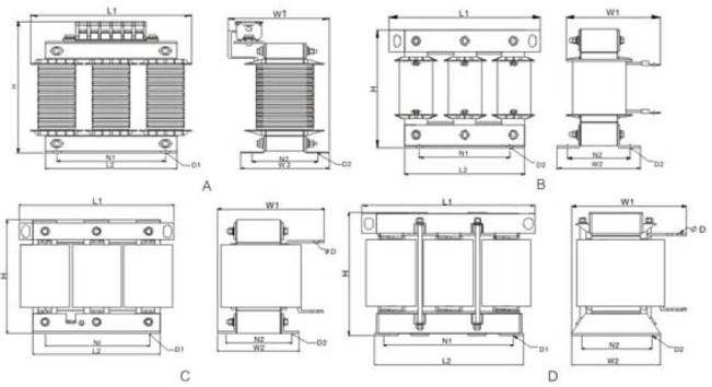 55kw变频器输出端加电抗器 输出电抗器 也称出线电抗器直流电抗器